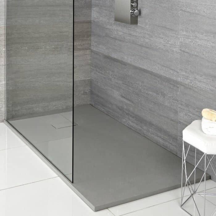 Plato de ducha con efecto piedra